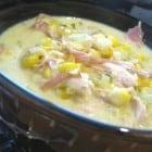 Chicken Corn Chowder with Cornbread Bites