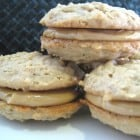 Peanut Butter Sandwich Cookies with Peanut Butter Molasses Buttercream
