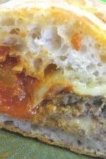 Mozzarella Stuffed Meatball Hoagies