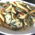 Penne With Fancy Chicken Sausage and Basil Ribbons