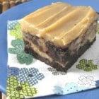 Caramelized Roasted Banana Swirled Brownies