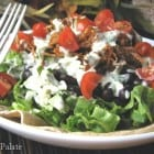 Sweet Pork Salad with Cilantro Dressing
