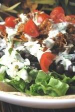 Sweet Pork Salad with Cilantro Dressing