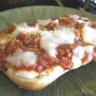 Garlic Toasted Open Faced Lasagna Ciabattas
