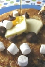 Gooey Marshmallow Chocolate Chip Pancakes
