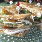 Fun, Fancy Little Turkey Club Sandwiches