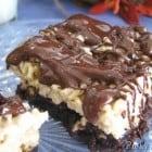 Crispy Caramel Brownie Treats