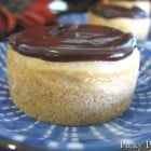 Shortbread Cookie Crusted Peanut Butter Mini Cheesecakes