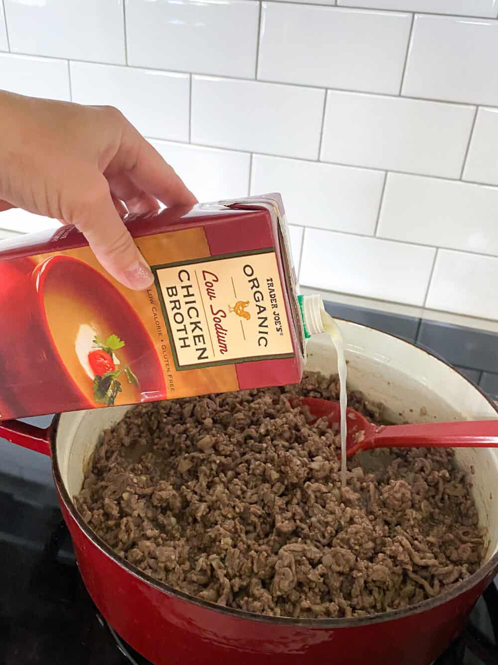 add broth for taco soup