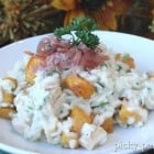 Roasted Butternut Squash, Chicken and Parmesan Risotto