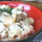 Creamy Chipotle Chicken Tortellini with White Beans and Cilantro