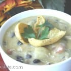 Hearty Queso Chicken Soup with Black Beans and Potatoes