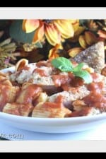 Chicken Parmesan Rigatoni Bake With Garlic Toast Points