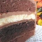 Double Chocolate Cheesecake Layered Cake...