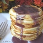 Silverdollar Waffle Pancakes with Blackberry Buttermilk Syrup...