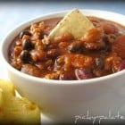 Hearty Ground Turkey Chili with Green Chili Cheddar Muffins