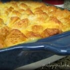 Poppin' Garlic Ranch Biscuit Topped Chicken Pot Pie...