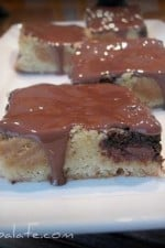 Blondies With Chocolate And Peanut Butter Cookie Centers