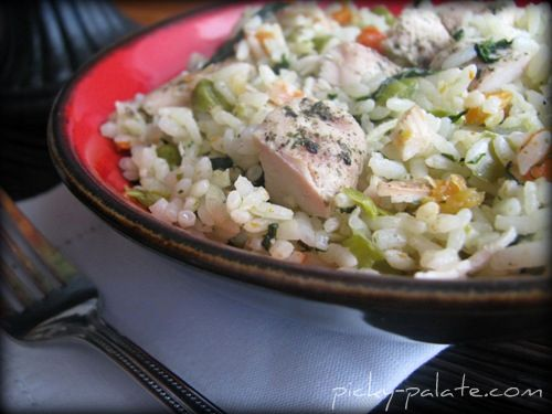 Romano Ranch Chicken and Rice Skillet Dinner - Picky Palate