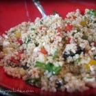 Whole Foods Mediterranean Couscous Salad and Broccoli Crunch Salad....my version!