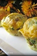 A plate of Broccoli Cheddar Egg Muffin Pull-Aparts