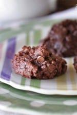 Double Chocolate Brownie Mini Chip Cookies