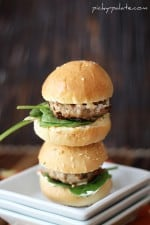 Feta Sun-Dried Tomato Turkey Burger Sliders