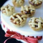 Peanut Butter and Jelly Baby Lattice Pies