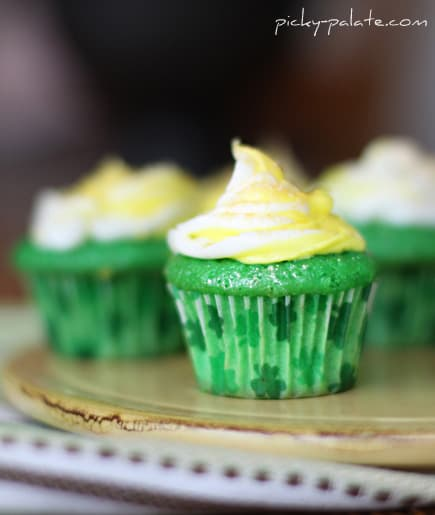 Green Velvet Baby Cakes with Cream Cheese Icing