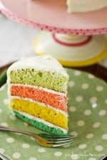 Colorful Easter Egg Layered Cake!