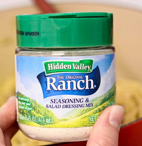 A Container of Hidden Valley Ranch Dressing Mix
