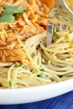 BBQ Shredded Chicken and Caramelized Red Onion Ranch Spaghetti