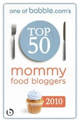 Top 50 Mommy Food Bloggers 2010