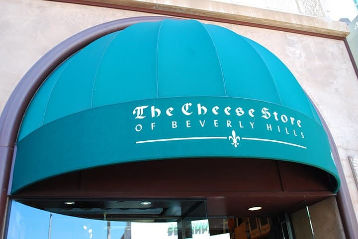 The Canopy Above the Door to the Cheese Store Of Beverly Hills