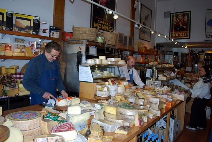 Employees Behind the Counter of The Cheese Store of Beverly Hills