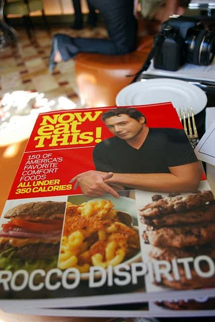 Rocco DiSpirito's Now Eat This Cookbook on a Table