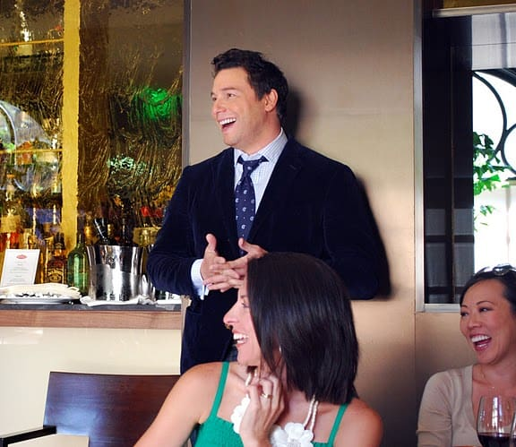 Rocco DiSpirito Laughing and Looking Off to the Side