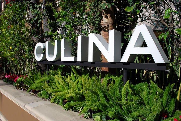 The Big White Culina Restaurant Sign