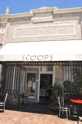 The Canopied Entrance to a Beverly Hills Scoop Shop