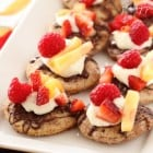 Cinnamon and Sugar Toasted Mini Pita Fruit Nachos...