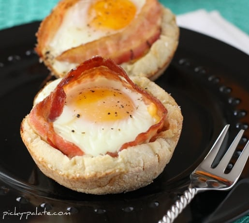 Bacon and Cheese Egg McMuffin Cups... - Picky Palate