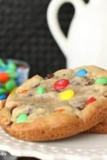 XXL M&M Chocolate Chip Cookies