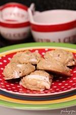 A plate full of Fluffernutter Cookies