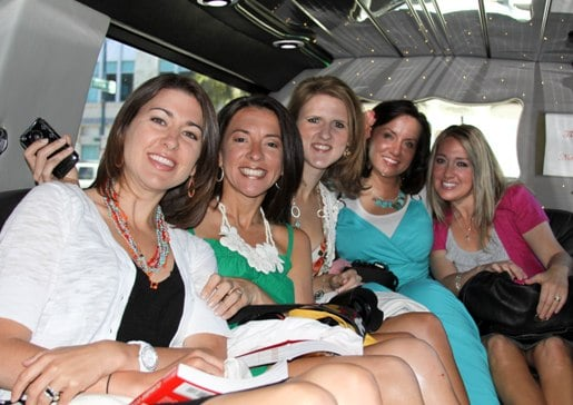 Jenny, Brittney, Amanda, Mandy and I Sitting in Our Limo