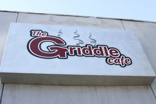 The Sign for The Griddle Cafe in Beverly Hills