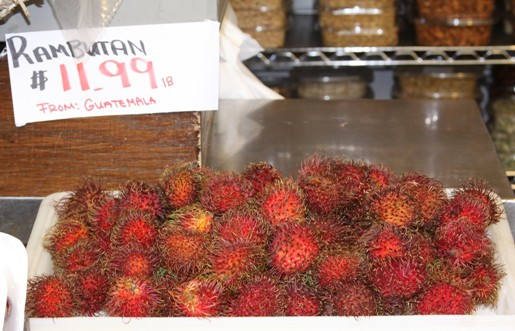 A Pile of Spiky Red Rambutan from Guatemala