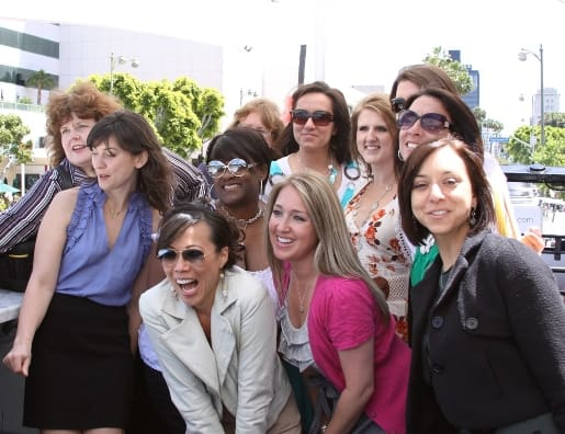 A Group Photo of 11 Smiling Women in LA