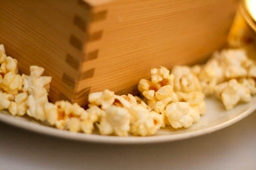 Parmesan Truffle Flavored Popcorn on a Plate
