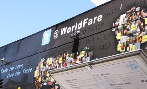 The Menu and Wall Art on the World Fare Food Truck