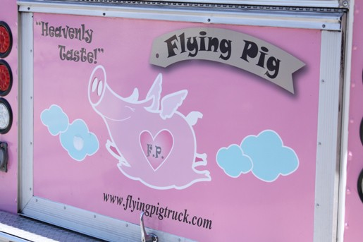 The Sign for the Flying Pig Food Truck in LA